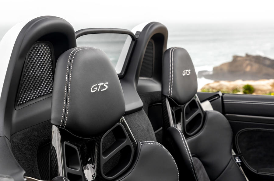 Porsche 718 Boxster GTS 4.0 2020 road test review - seat details