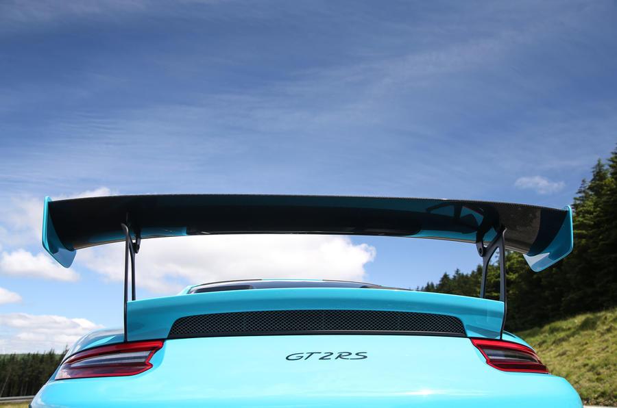 Porsche 911 GT2 RS 2018 road test review spoiler rear