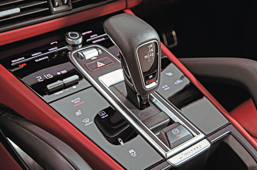 Porsche Cayenne Turbo 2018 road test review centre console