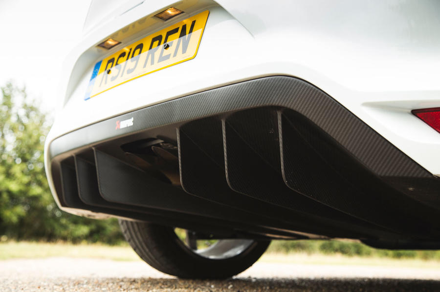 Renault Megane RS Trophy-R 2019 road test review - rear diffuser