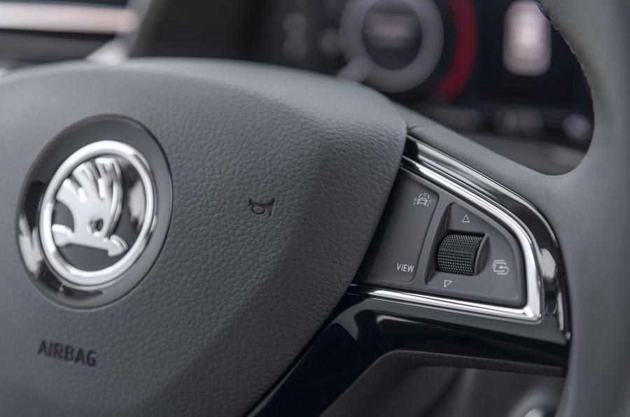 Skoda Kamiq 2019 road test review - steering wheel