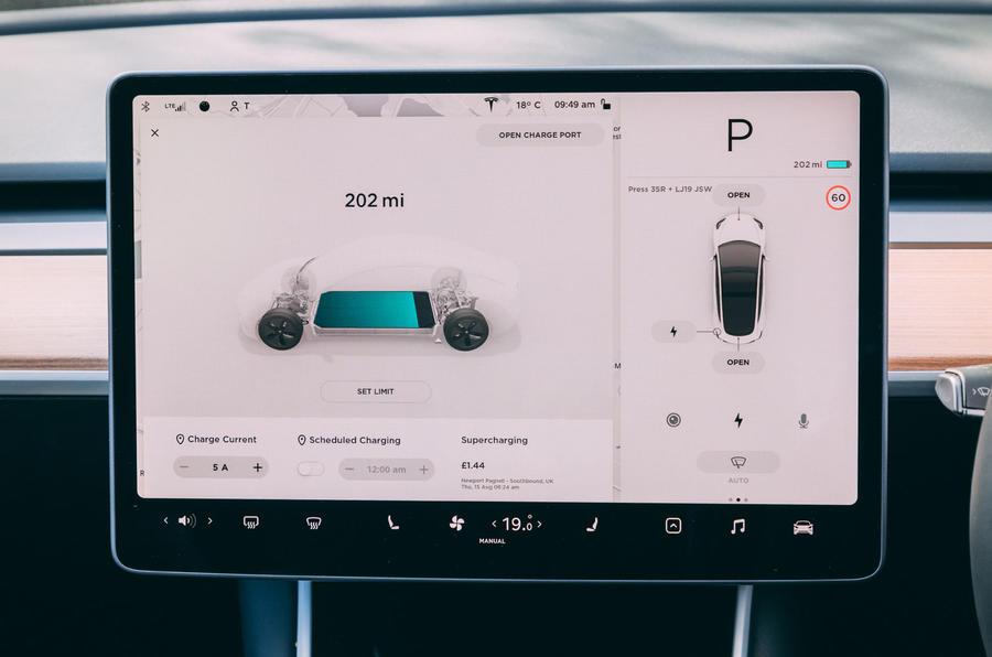 Tesla Model 3 road test - battery consumption