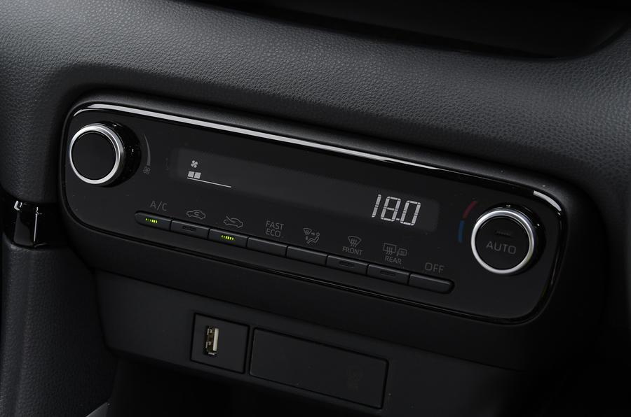 Révision de l'essai routier de la Toyota Yaris 2020 - contrôle climatique