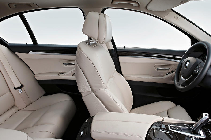 BMW 535i rear seats