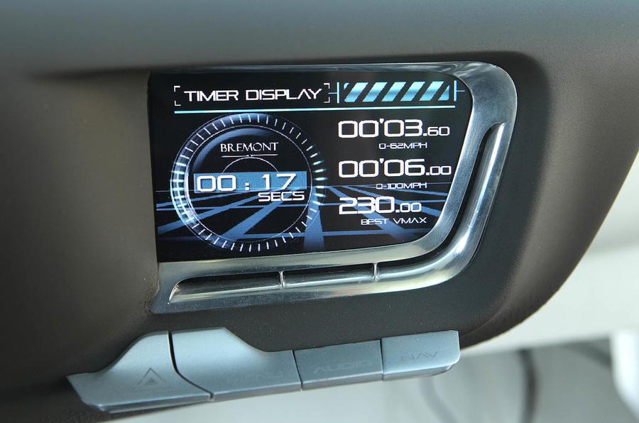 Jaguar C-X75 information display