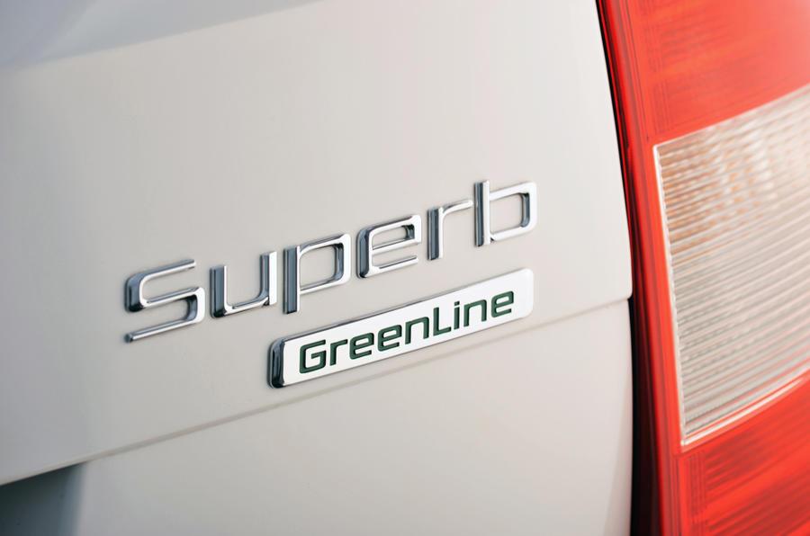 Skoda Superb Greenline badging