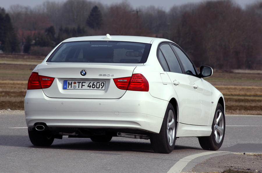 BMW 320d Efficient Dynamics rear cornering