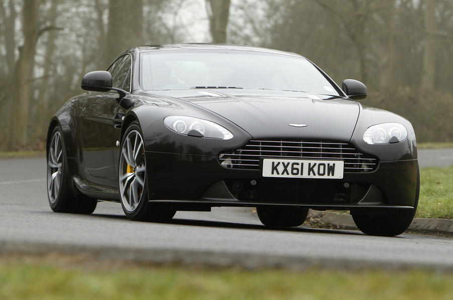 Aston Martin Vantage V8 cornering