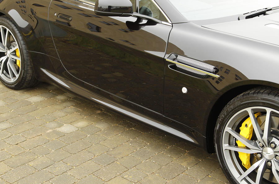 Aston Martin Vantage yellow brake calipers
