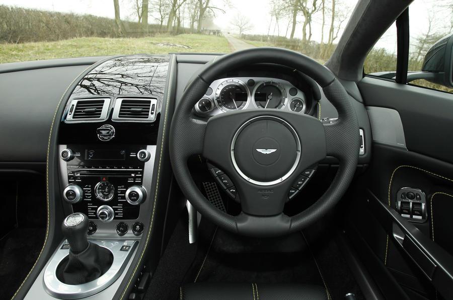 Aston Martin Vantage V8 dashboard
