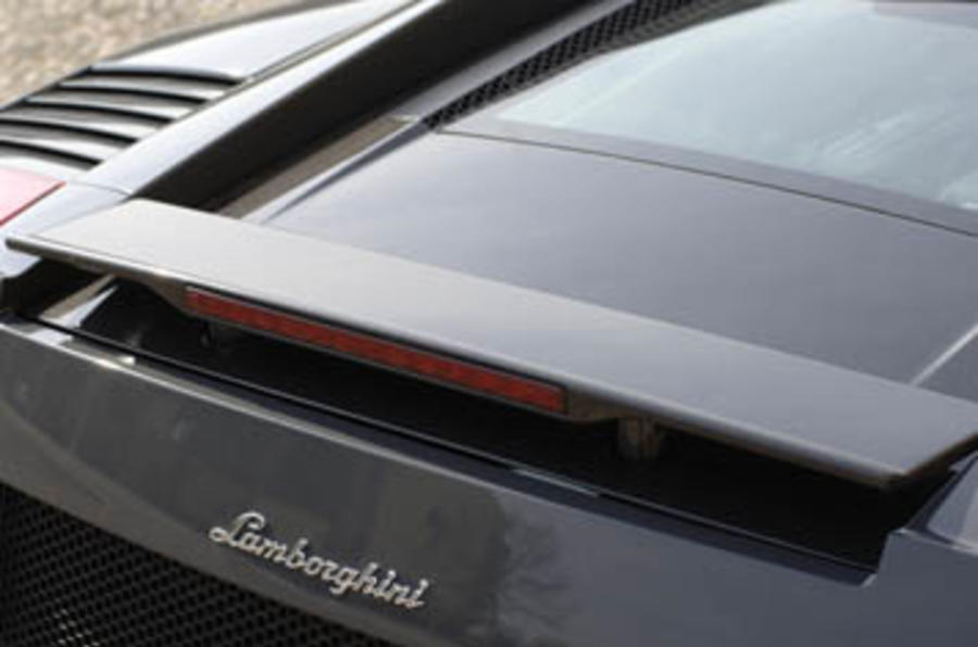 Lamborghini Gallardo Superleggera rear wing