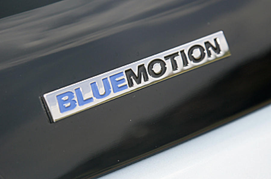 VW Polo Bluemotion badging