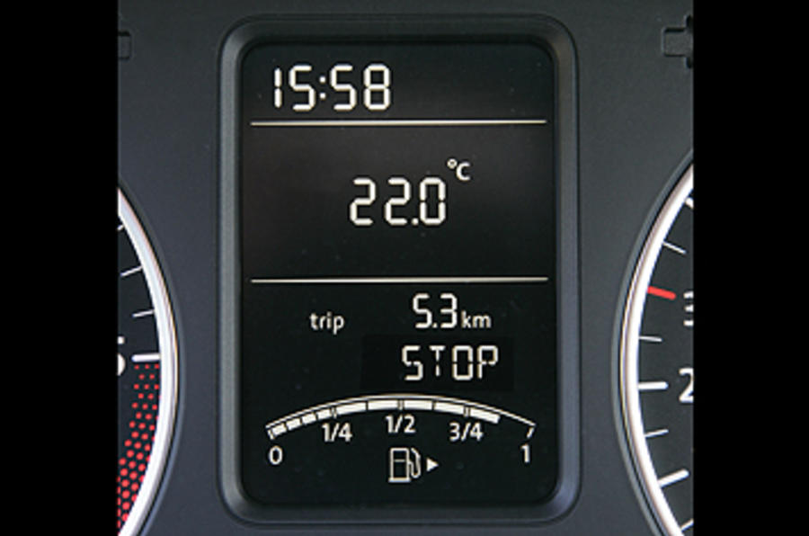 VW Polo information display