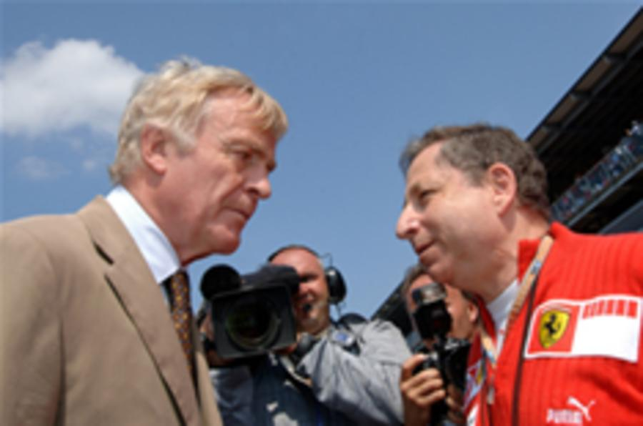 Mosley backs Todt for presidency