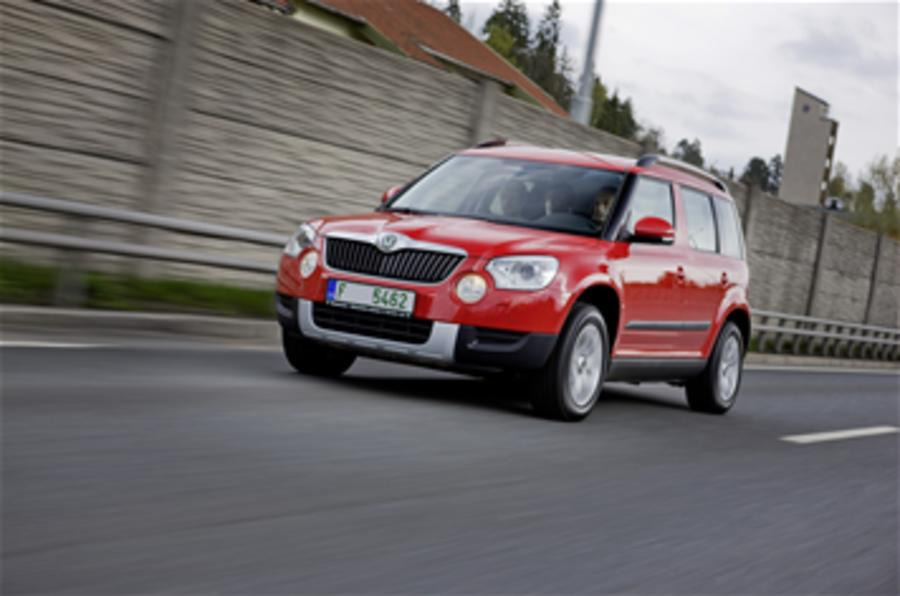 Skoda Yeti on the road
