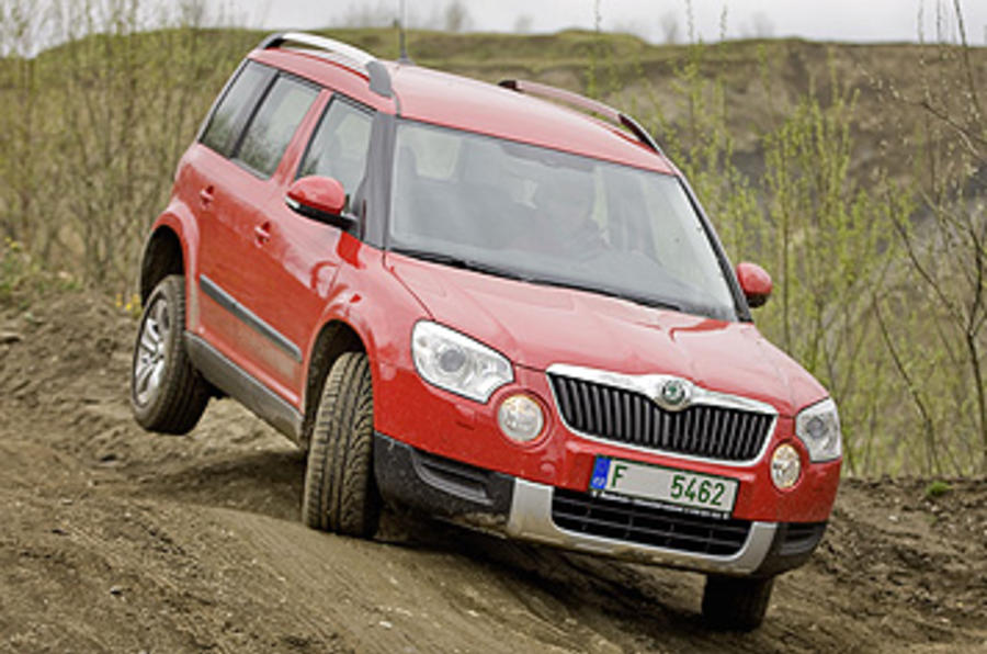 Skoda Yeti hill descent