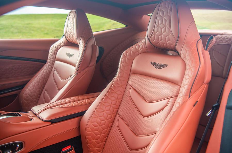 Aston Martin DBS Superleggera 2018 road test review - front seats