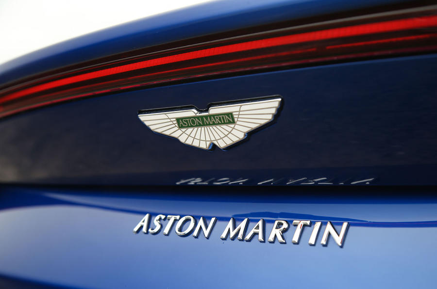 Aston Martin Vantage 2018 review rear badge