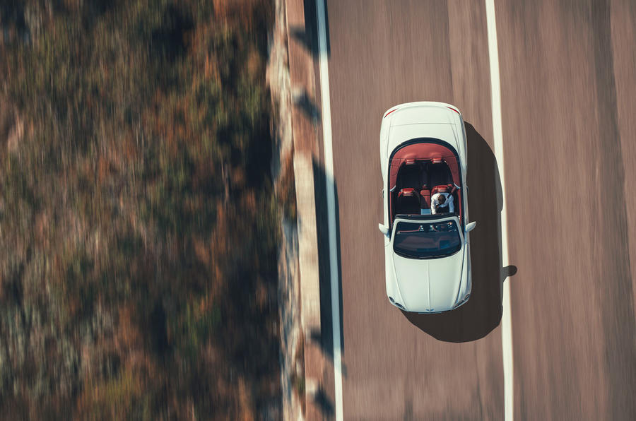Bentley Continental GTC 2019 first drive review - on the road aerial view