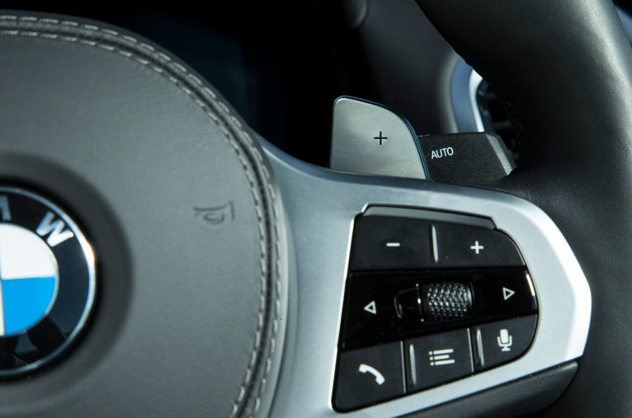 BMW 8 Series Coupé 2019 road test review - paddle shifters