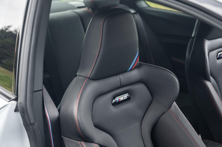 BMW M2 CS 2020 road test review - seat details