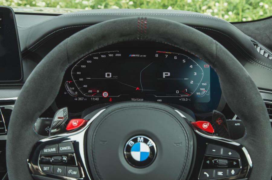 16 BMW M5 CS 2021 RT instruments