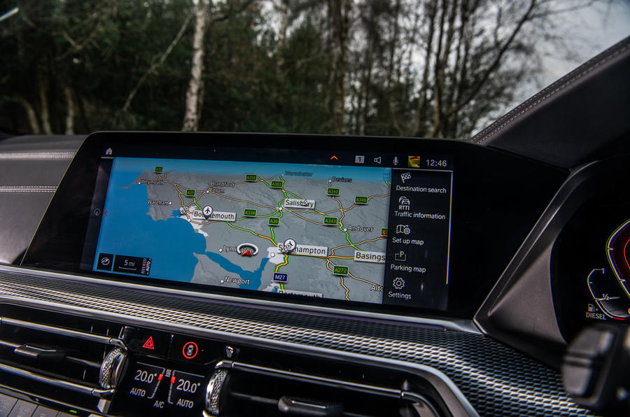 BMW X5 2018 road test review - satnav