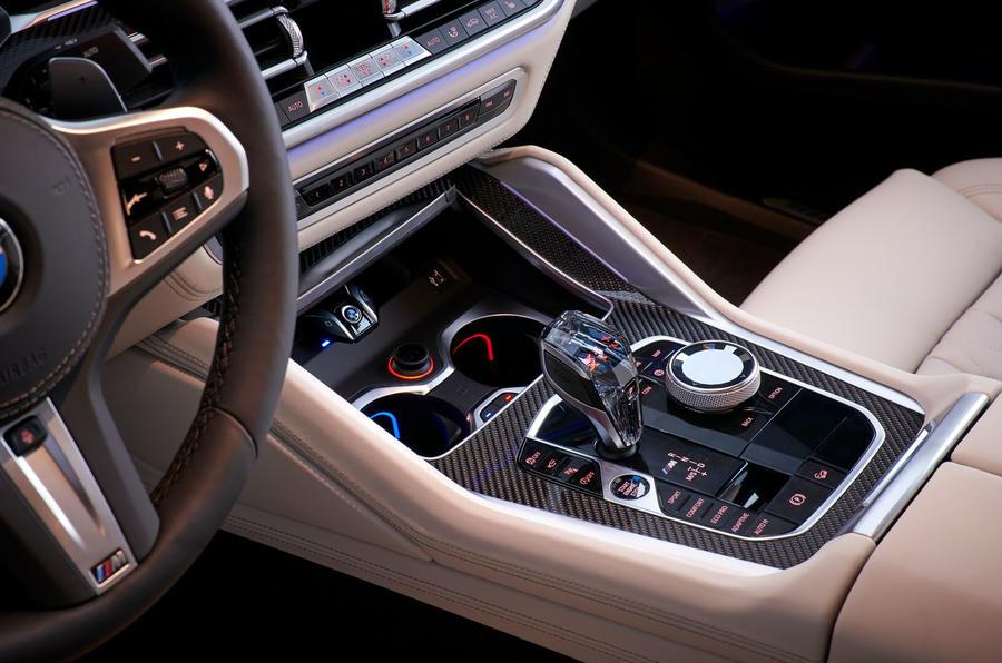 BMW X6 M50i 2019 road test review - centre console