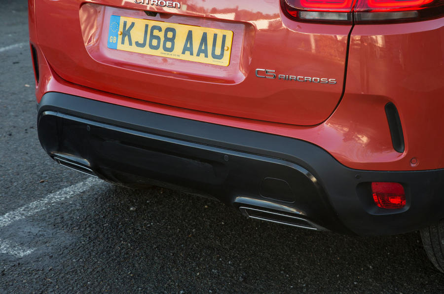 Citroen C5 Aircross 2019 road test review - exhaust