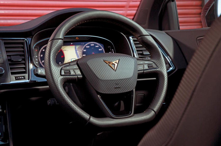 Cupra Ateca 2019 road test review - steering wheel