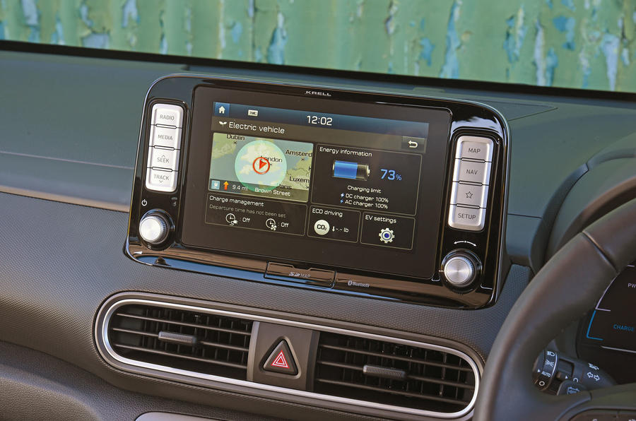 Hyundai Kona Electric 2018 road test review - infotainment