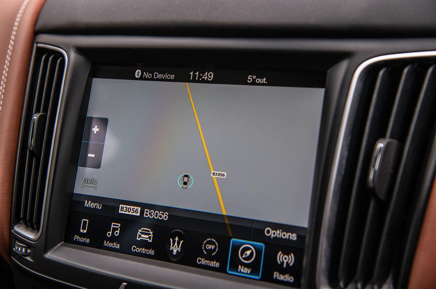Maserati Levante S GranLusso 2019 road test review - navigation