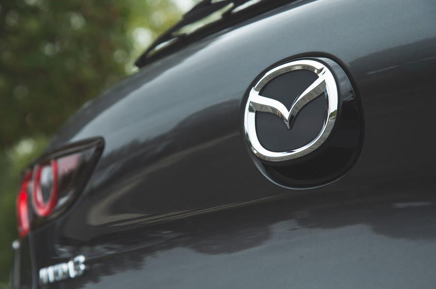 Mazda 3 Skyactiv-X 2019 road test review - boot badge