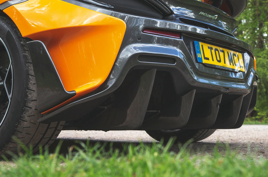 McLaren 600LT Spider 2019 road test review - rear splitter