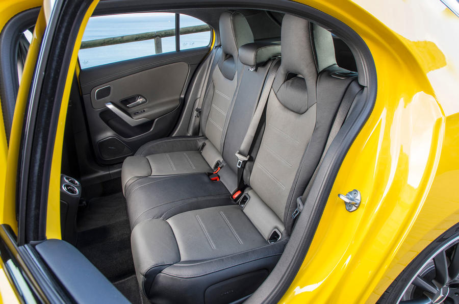 Mercedes-AMG A35 2018 review - rear seats