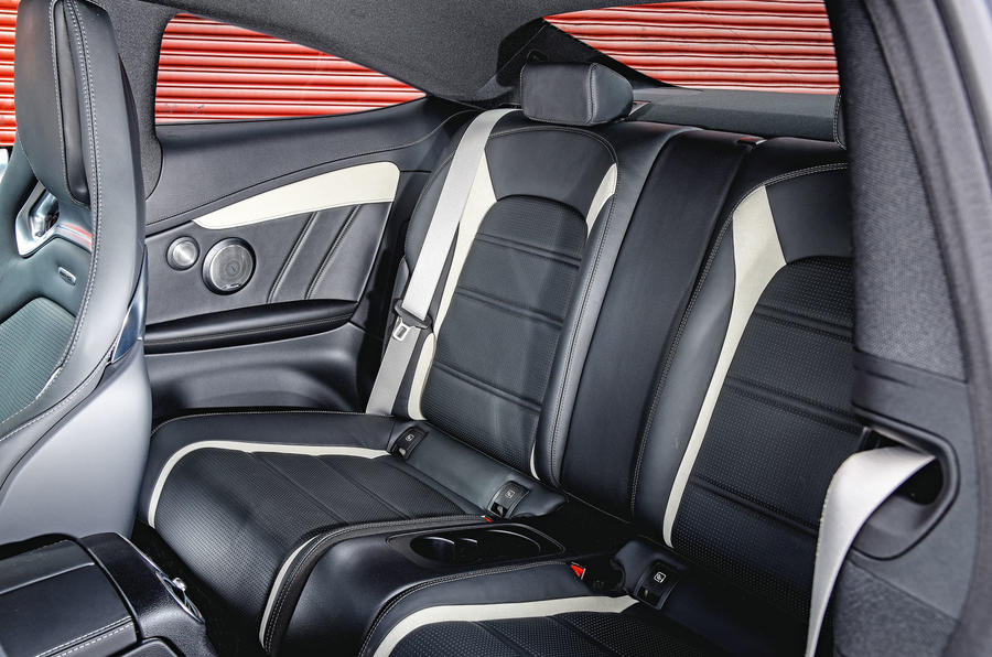 Mercedes-AMG C63 Coupé 2019 road test review - rear seats