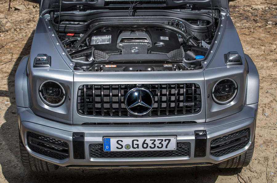 Mercedes-AMG G63 2018 review engine front