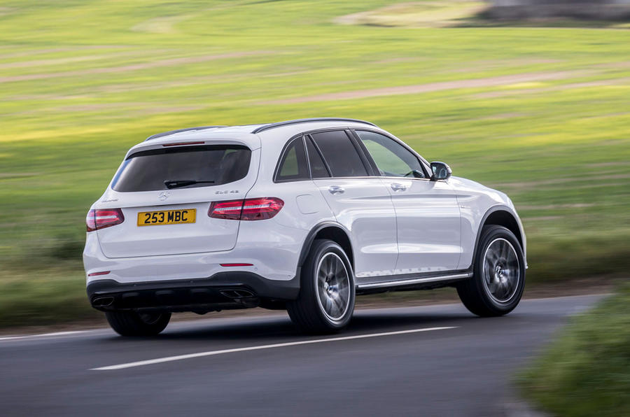 Mercedes-AMG GLC 43 road test review - cornering rear