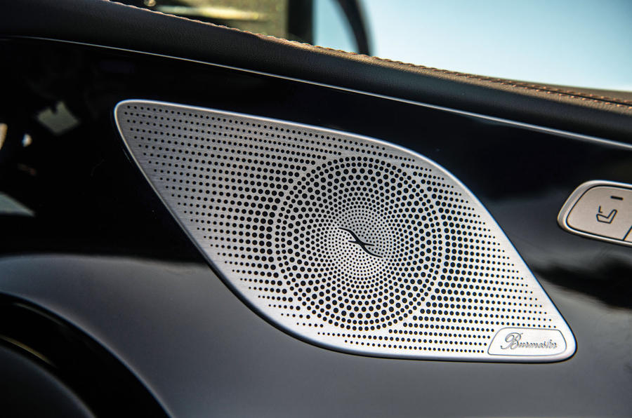 Mercedes-AMG GT four-door Coupé 2019 road test review - speakers