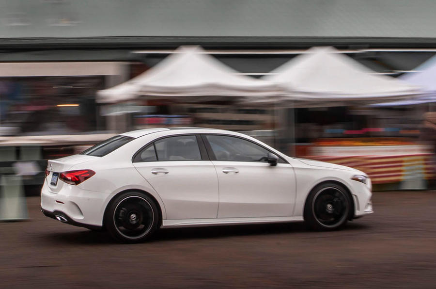 Mercedes-Benz A-Class saloon 2018 review - on the road side