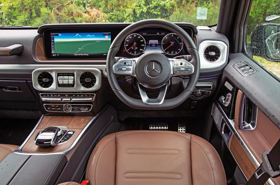 Mercedes-Benz G-Class 2019 road test review - dashboard