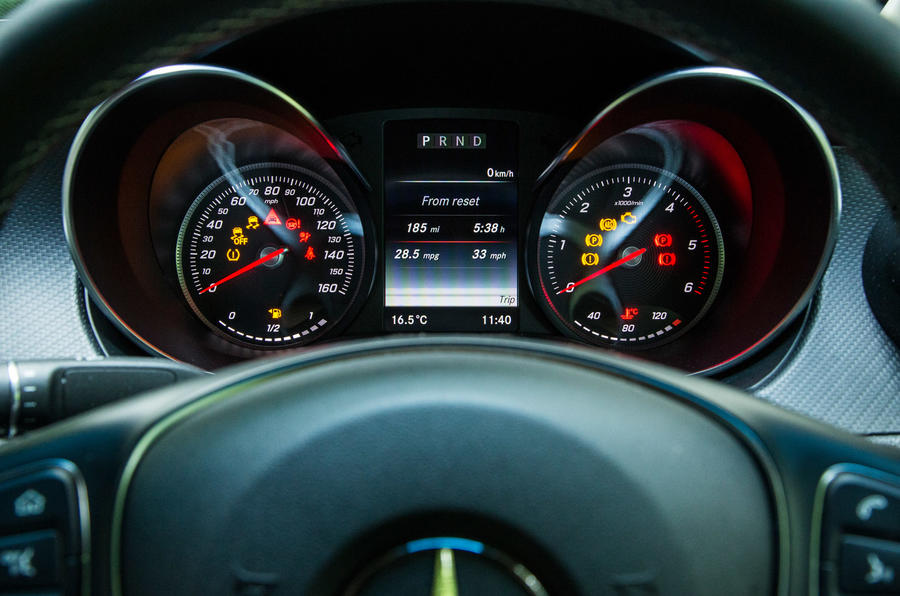 Mercedes-Benz X-Class road test review instrument cluster