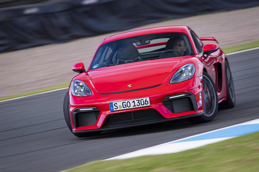Porsche 718 Cayman GT4 2019 road test review - drift front