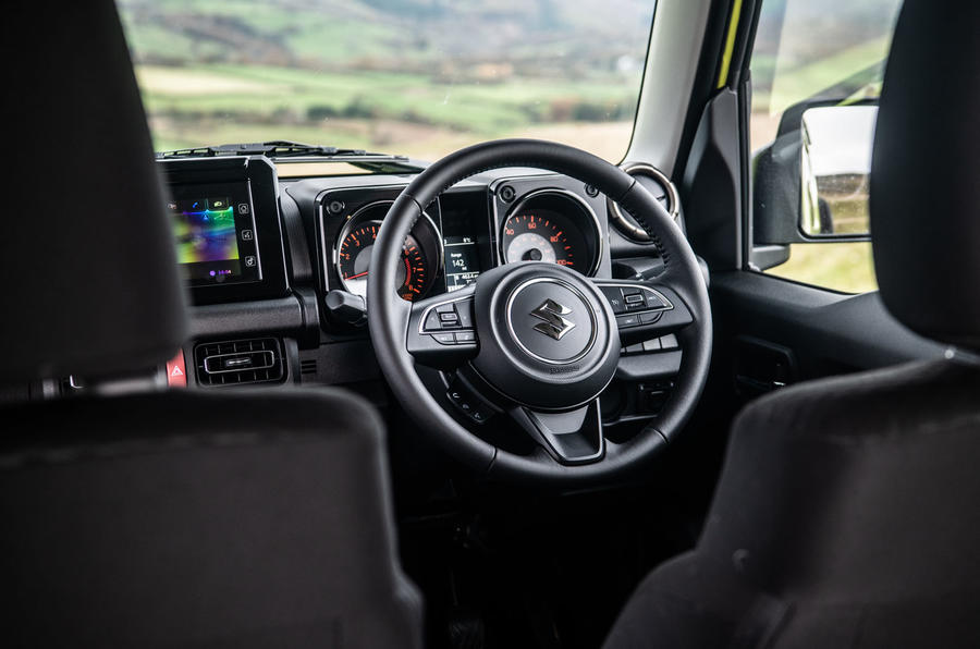 Suzuki Jimny 2018 road test review - steering wheel