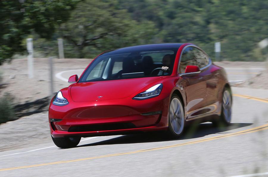 Tesla Model 3 2018 road test review cornering front