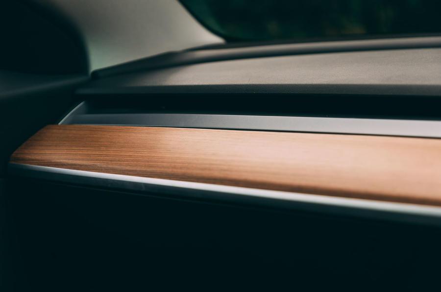 Tesla Model 3 road test - dashboard trim