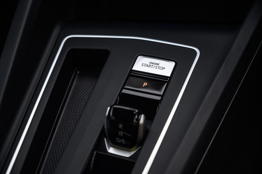 Volkswagen Golf 2020 road test review - start button