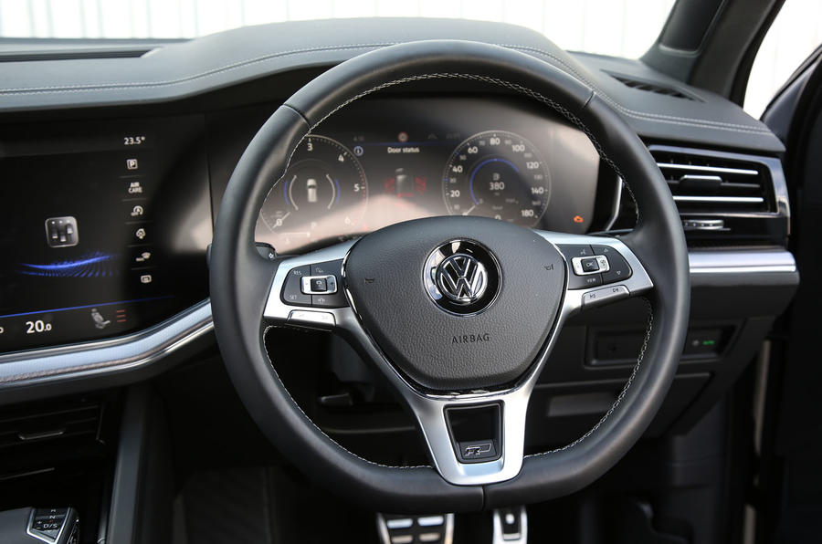 Volkswagen Touareg 2018 road test review steering wheel
