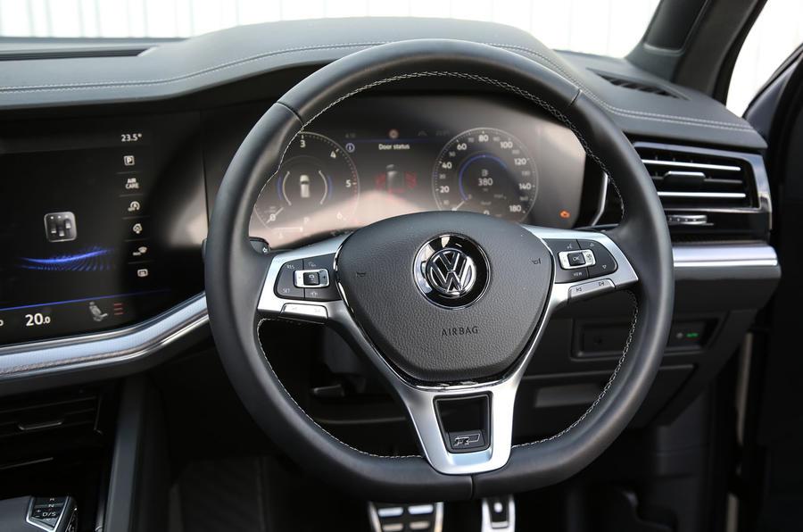 Volkswagen Touareg 2018 road test review steering wheel