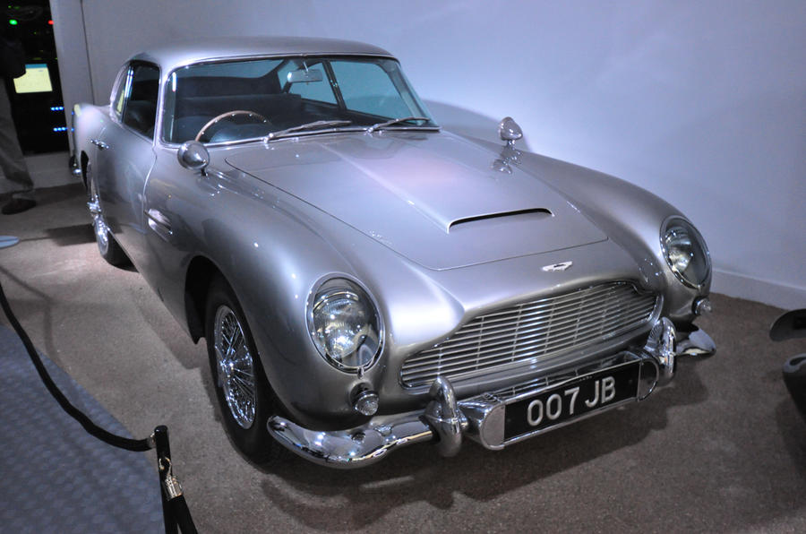 James Bond cars on display